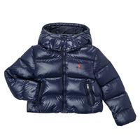 Oblečenie Dievčatá Vyteplené bundy Polo Ralph Lauren TREFINA Námornícka modrá