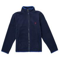 Oblečenie Dievčatá Flísové mikiny Polo Ralph Lauren TOLIPA Námornícka modrá