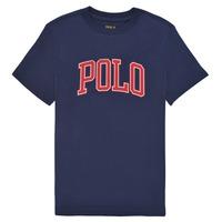 Oblečenie Dievčatá Tričká s krátkym rukávom Polo Ralph Lauren MATIKA Námornícka modrá
