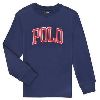 Oblečenie Chlapci Tričká s dlhým rukávom Polo Ralph Lauren METIKA Námornícka modrá