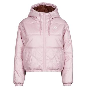 Oblečenie Ženy Vyteplené bundy Converse EMBROIDERED STAR CHEVRON SHORT PUFFER JACKET Fialová