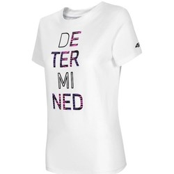 Oblečenie Ženy Tričká s krátkym rukávom 4F TSD018 Biela