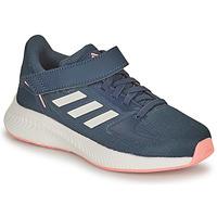 Topánky Dievčatá Bežecká a trailová obuv adidas Performance RUNFALCON 2.0 C Námornícka modrá / Ružová
