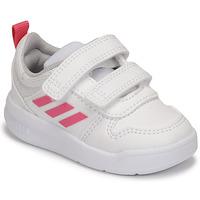 Topánky Dievčatá Nízke tenisky adidas Performance TENSAUR I Biela / Ružová