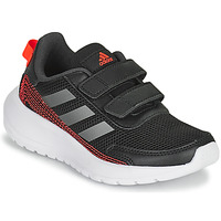 Topánky Chlapci Bežecká a trailová obuv adidas Performance TENSAUR RUN C Čierna / Červená