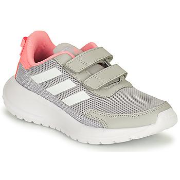 Topánky Dievčatá Bežecká a trailová obuv adidas Performance TENSAUR RUN C Šedá / Ružová