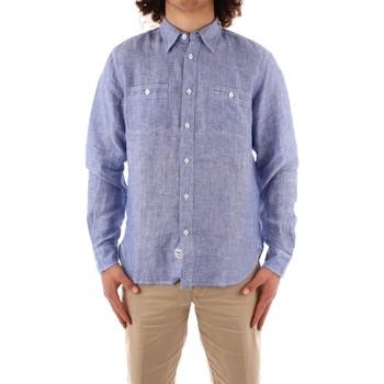 Oblečenie Muži Košele s dlhým rukávom Blauer 21SBLUS01221 BLUE