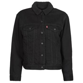 Oblečenie Ženy Džínsové bundy Levi's EX BF SHERPA TRUCKER Čierna