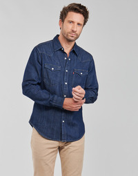 Oblečenie Muži Košele s dlhým rukávom Levi's BARSTOW WESTERN STANDARD Modrá