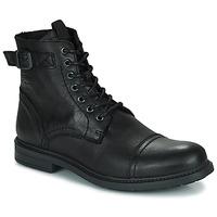 Topánky Muži Polokozačky Jack & Jones JFW SHELBY LEATHER Čierna