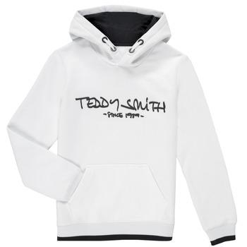 Oblečenie Chlapci Mikiny Teddy Smith SICLASS HOODY Biela