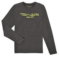 Oblečenie Chlapci Tričká s dlhým rukávom Teddy Smith TICLASS3 ML Šedá