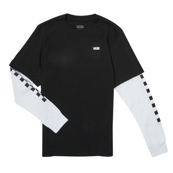Oblečenie Chlapci Tričká s dlhým rukávom Vans LONG CHECK TWOFER Čierna