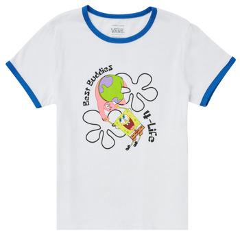 Oblečenie Dievčatá Tričká s krátkym rukávom Vans VANS X SPONGEBOB BEST BUDDIES RINGER Biela