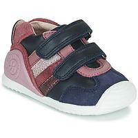 Topánky Dievčatá Nízke tenisky Biomecanics BIOGATEO SPORT Námornícka modrá / Ružová