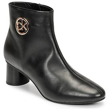 Topánky Ženy Polokozačky Calvin Klein Jeans CYLINDER ANKLE BOOT Čierna