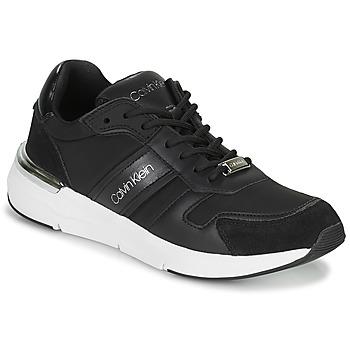 Topánky Ženy Nízke tenisky Calvin Klein Jeans FLEXRUNNER MIXED MATERIALS Čierna / Strieborná