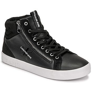 Topánky Muži Členkové tenisky Calvin Klein Jeans VULCANIZED MID LACEUP Čierna