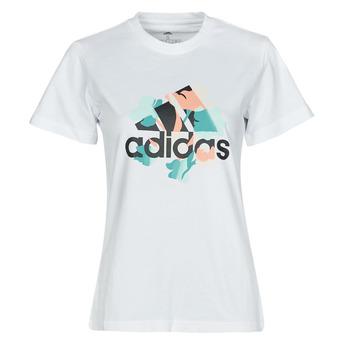 Oblečenie Ženy Tričká s krátkym rukávom adidas Performance FLORAL GFX Biela