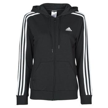 Oblečenie Ženy Mikiny adidas Performance W 3S FT FZ HD Čierna