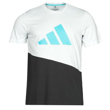 Oblečenie Muži Tričká s krátkym rukávom adidas Performance FUTURE BLK TEE Biela / Crystal
