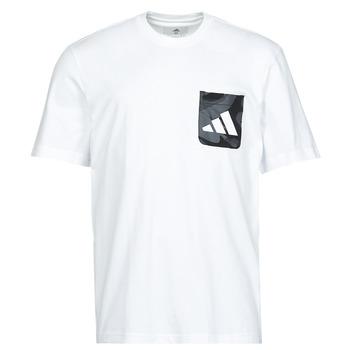 Oblečenie Muži Tričká s krátkym rukávom adidas Performance CAMO PKT TEE Biela