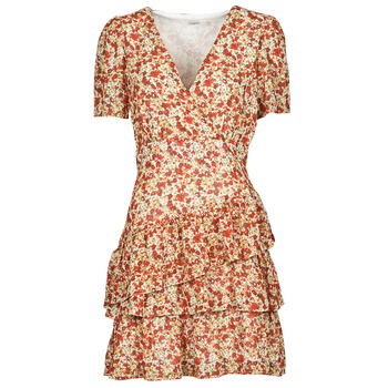Oblečenie Ženy Krátke šaty Moony Mood ORNAMA Biela / Viacfarebná