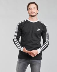 Oblečenie Muži Tričká s dlhým rukávom adidas Originals 3-STRIPES LS T Čierna