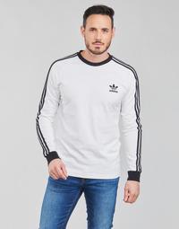 Oblečenie Muži Tričká s dlhým rukávom adidas Originals 3-STRIPES LS T Biela