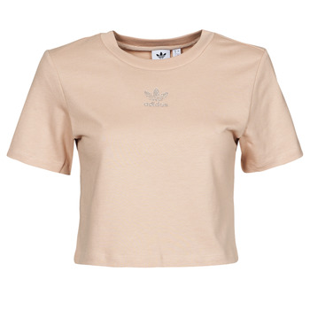 Oblečenie Ženy Tričká s krátkym rukávom adidas Originals CROPPED  TEE Béžová
