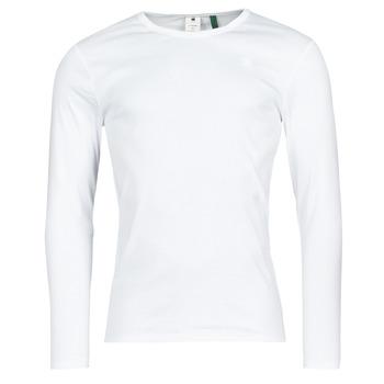 Oblečenie Muži Tričká s dlhým rukávom G-Star Raw BASE R T LS 1-PACK Biela