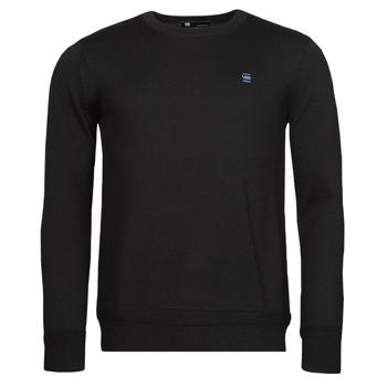 Oblečenie Muži Svetre G-Star Raw PREMIUM BASIC KNIT R LS Čierna