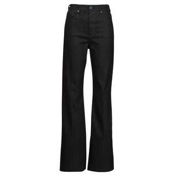Oblečenie Ženy Rifle Bootcut  G-Star Raw DECK ULTRA HIGH WIDE LEG Čierna