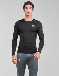 Oblečenie Muži Tričká s dlhým rukávom Under Armour UA HG ARMOUR COMP LS Čierna / Biela