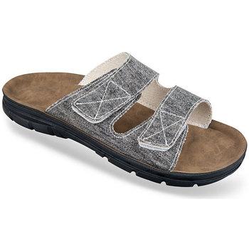 Topánky Muži Šľapky Mjartan Pánske tmavosivé papuče  JEANS tmavosivá