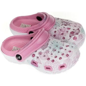 Topánky Dievčatá Nazuvky John-C Detské svetlo-ružové crocsy LILLI ružová