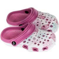 Topánky Dievčatá Nazuvky John-C Detské tmavo-ružové crocsy LILLI ružová