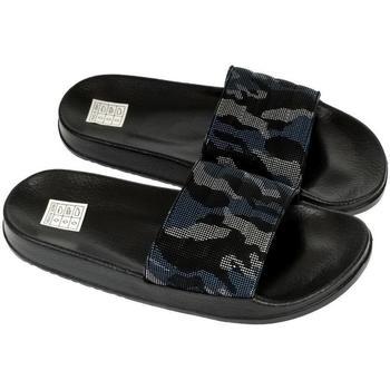 Topánky Muži športové šľapky John-C Pánske tmavo-modré šľapky TRAN tmavomodrá
