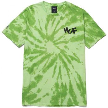 Oblečenie Muži Tričká a polokošele Huf T-shirt haze brush tie dye ss Zelená