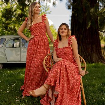 Oblečenie Ženy Dlhé šaty Céleste AURORE Červená
