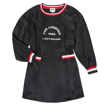 Oblečenie Dievčatá Krátke šaty Karl Lagerfeld RUBIS Čierna