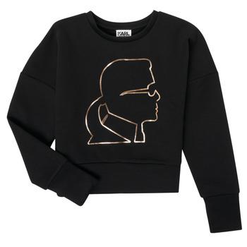 Oblečenie Dievčatá Mikiny Karl Lagerfeld CORNALINE Čierna