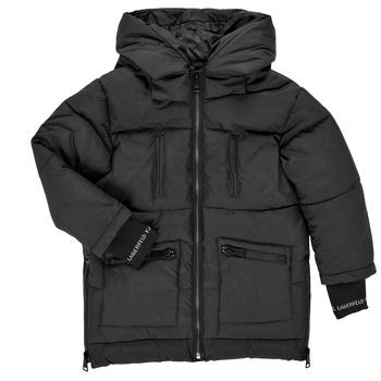 Oblečenie Dievčatá Vyteplené bundy Karl Lagerfeld DIAMANT NOIR Čierna