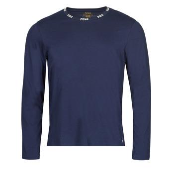 Oblečenie Muži Tričká s dlhým rukávom Polo Ralph Lauren CREEW SLEEP TOP Námornícka modrá