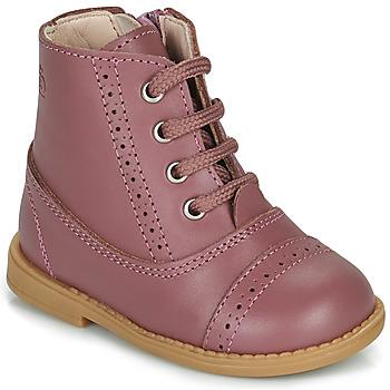 Topánky Dievčatá Polokozačky Citrouille et Compagnie PUMBAE Ružová