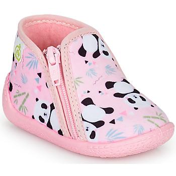 Topánky Dievčatá Papuče Citrouille et Compagnie PACARONI Ružová