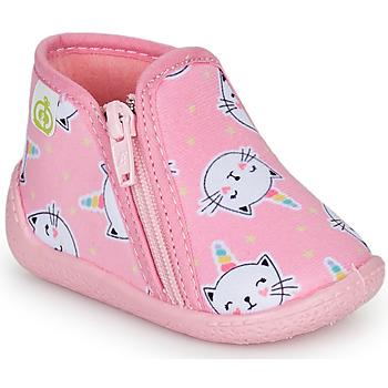 Topánky Dievčatá Papuče Citrouille et Compagnie PAGLIATELLE Ružová