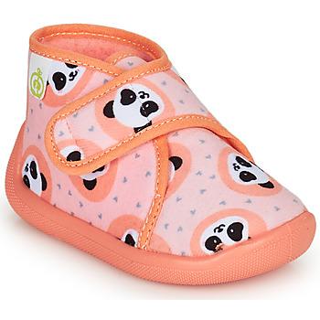 Topánky Dievčatá Papuče Citrouille et Compagnie PASTACARBO Oranžová lososová