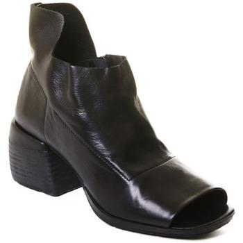 Topánky Ženy Čižmičky Rebecca White T0402 |Rebecca White| D??msk?? kotn??kov?? boty z ?ern?? telec?? k??e,