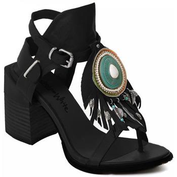 Topánky Ženy Lodičky Rebecca White T0509 |Rebecca White| D??msk?? sand??ly na vysok??m podpatku z ?ern??